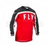 Джерси FLY RACING F-16 красно/чёрно/белая (2020) р. M