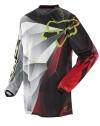 Джерси Blitz X1 FOX (реплика) черно-бело-красная с зеленым р. XL(L)