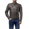 Куртка кожаная MOTEQ Gravity черно-коричневая р.52-54(XXL)