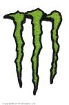 Нашивка Monster Energy с термоклеем