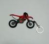Брелок для ключей Мотоцикл Кросс Красно/Белый резиновый