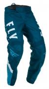 Мото штаны FLY RACING F-16 синие/голубые/белые (2020) 34
