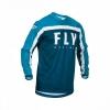 Джерси FLY RACING F-16 синяя/голубая/белая (2020) р.S