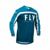 Джерси FLY RACING F-16 синяя/голубая/белая (2020) р. YXL